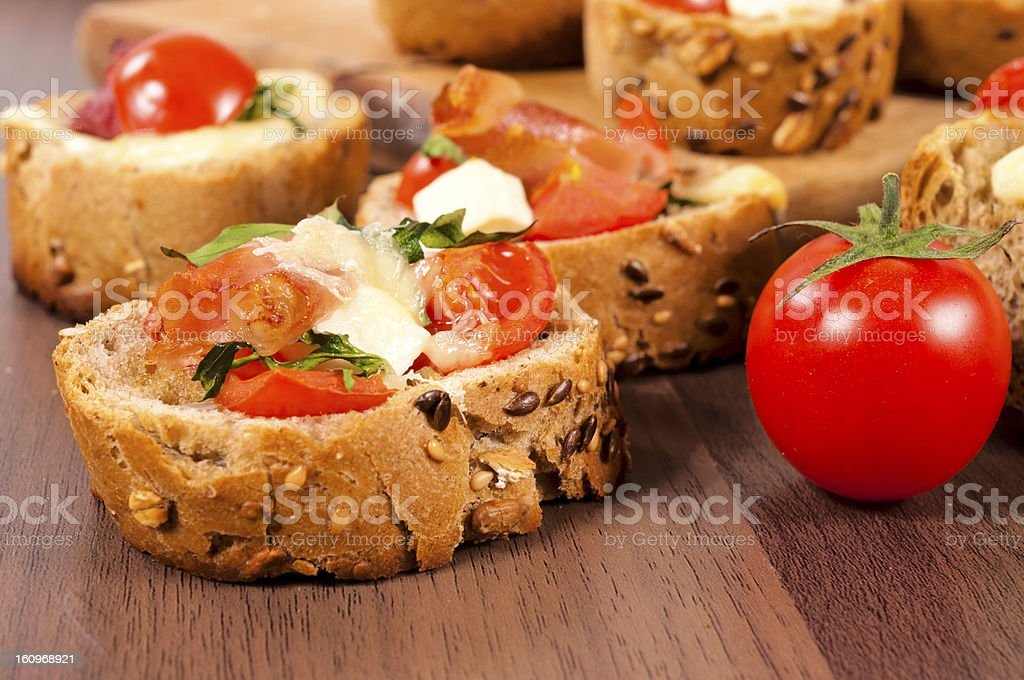 Bruschetta sandwich royalty-free stock photo
