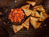 Bruschetta with Baked Pita Chips