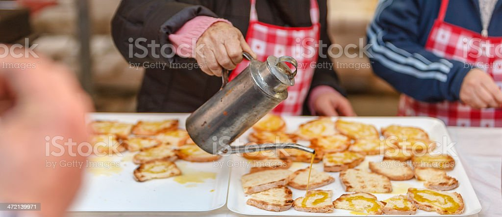 Bruschetta with Oil royalty-free stock photo