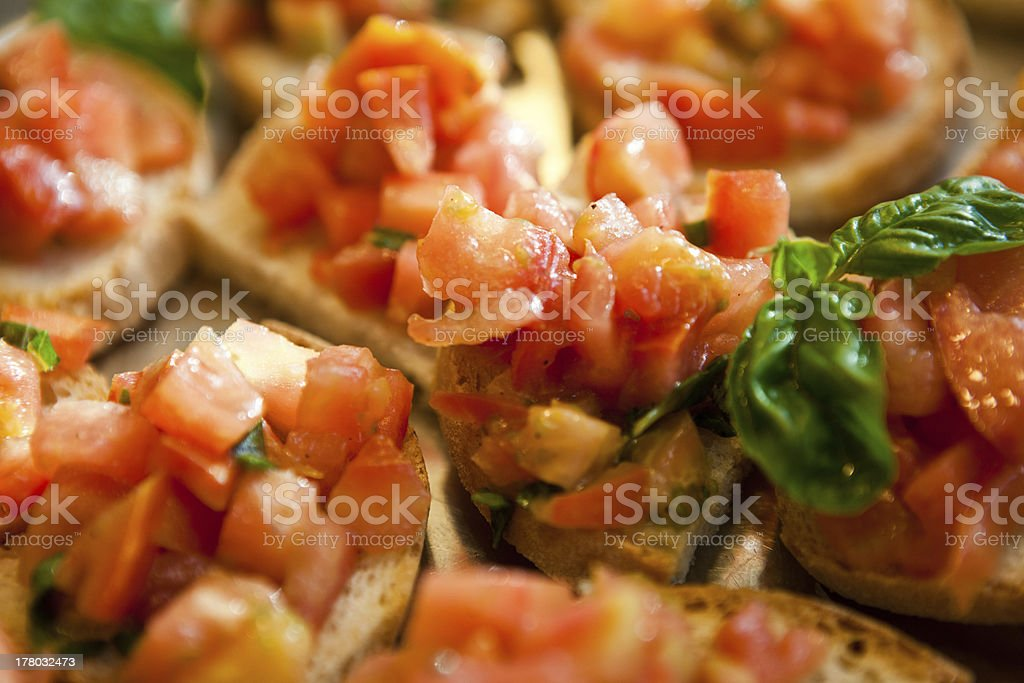 bruschetta with tomato royalty-free stock photo