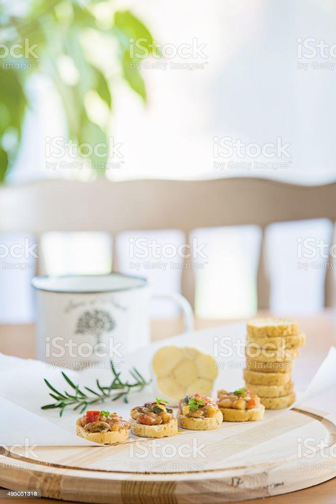 Bruschettas stock photo
