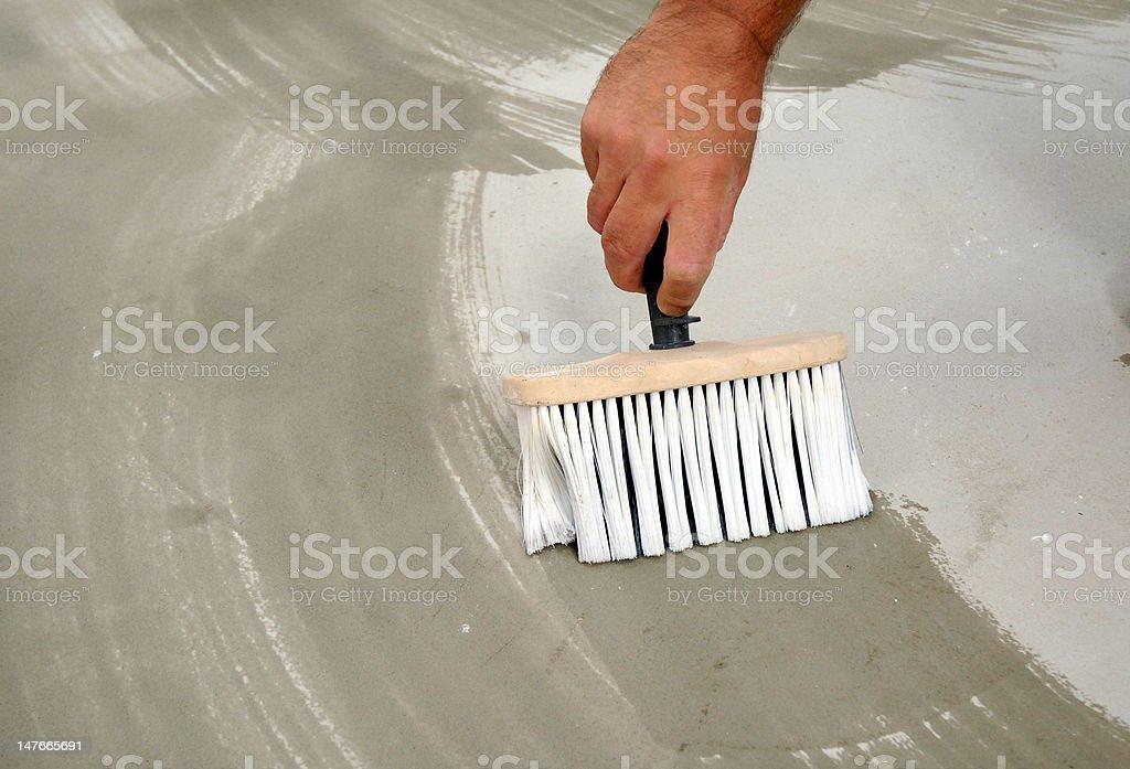 brush and adhesive royalty-free stock photo