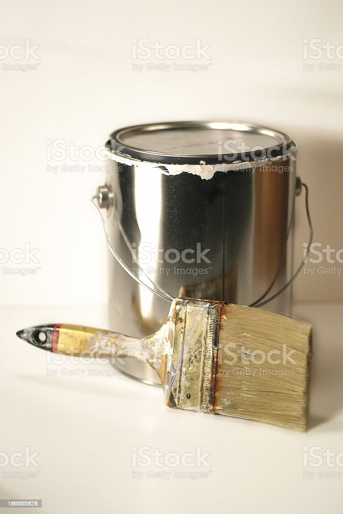 Brush and Can royalty-free stock photo