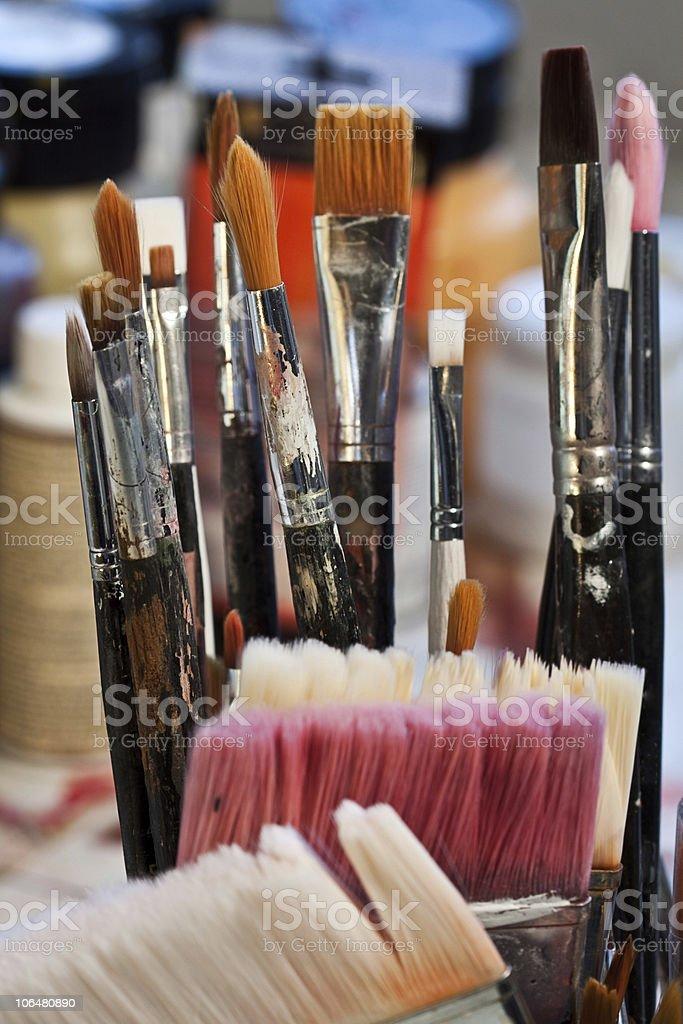 Pincel e Tinta foto de stock royalty-free