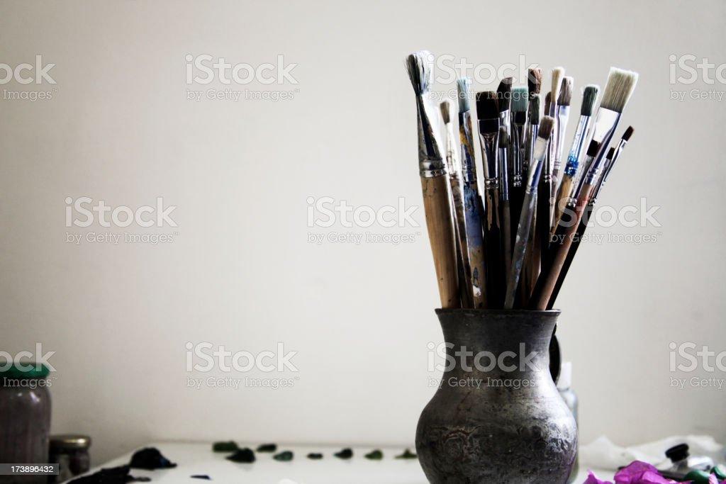 Brush crowd stock photo