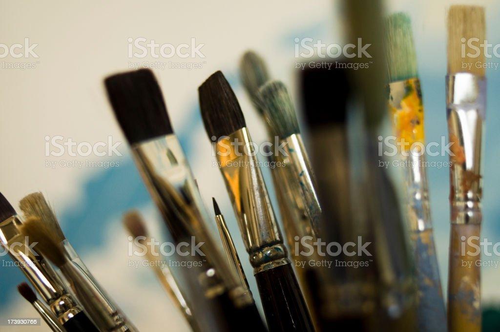 Brush crowd royalty-free stock photo