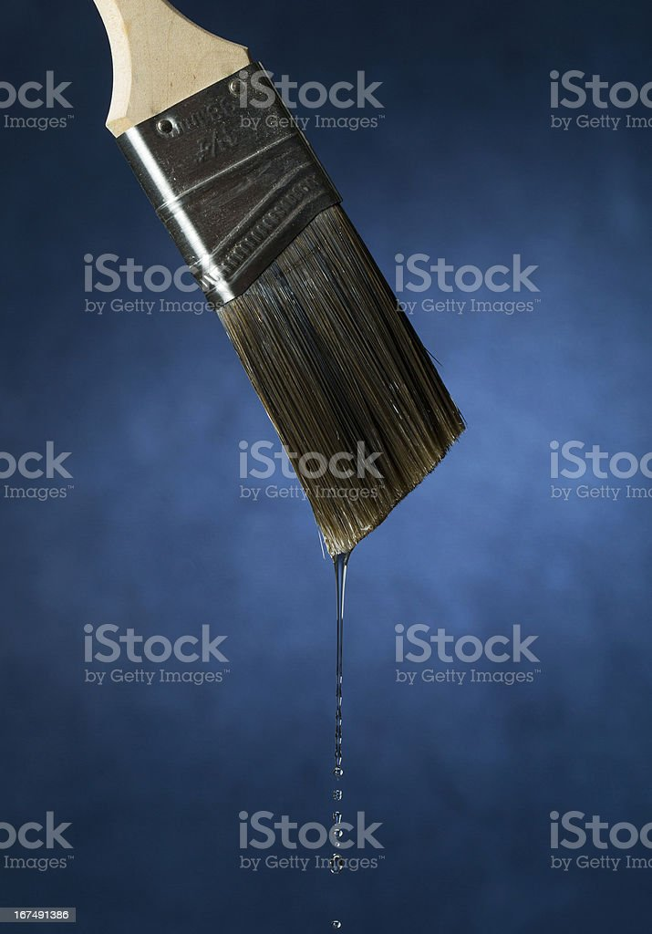 Brush Dripping Clear Liquid royalty-free stock photo