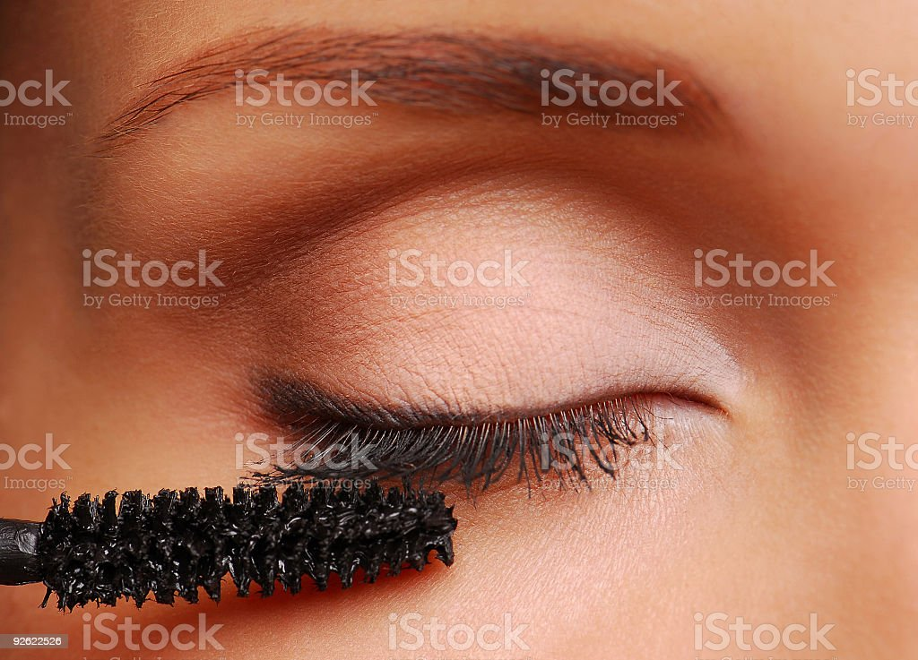 Brush for eyelashes stock photo