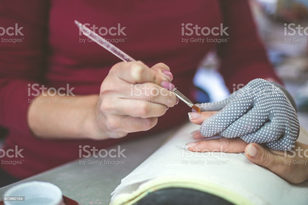 Brush for my nails stock photo