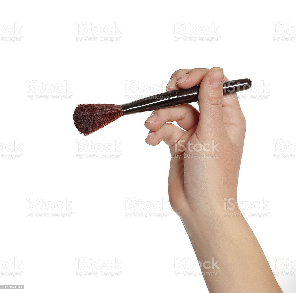 brush in hand royalty-free stock photo