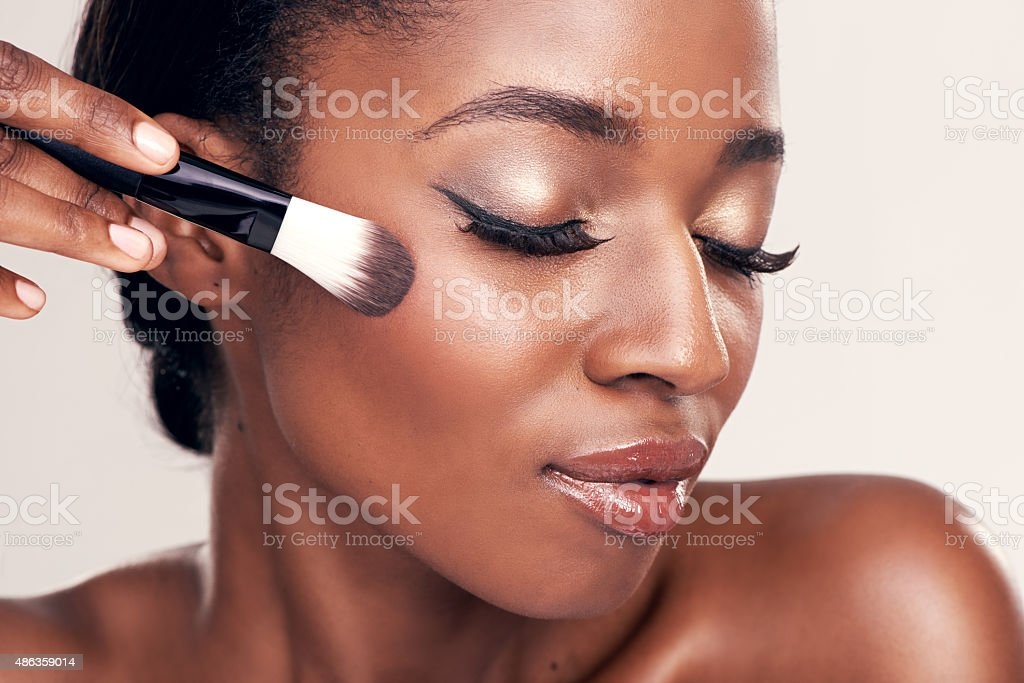 Brush on more of your beauty stock photo
