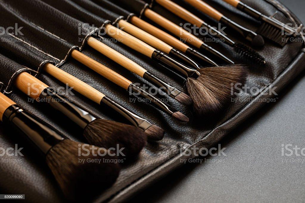 brush set for make-up stock photo