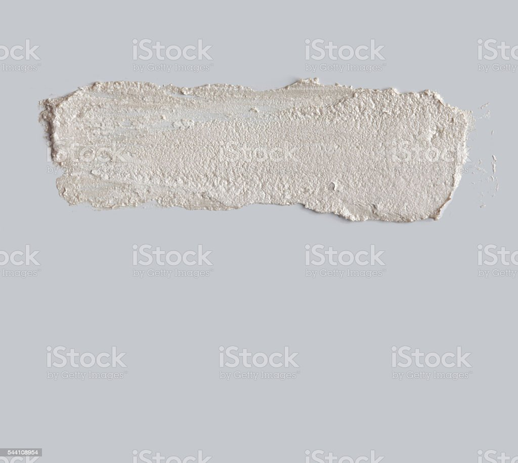 brush stroke on gray wall stock photo