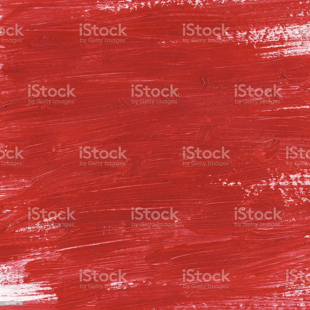 Brush strokes of a red painted paper stock photo
