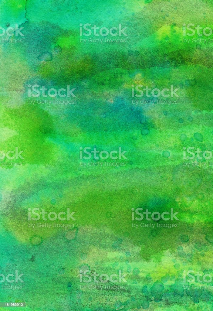 Brush strokes of green paint with texture stock photo
