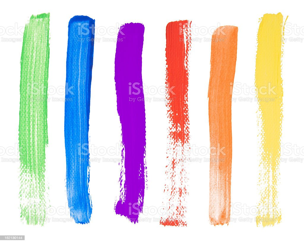 Brush strokes royalty-free stock photo