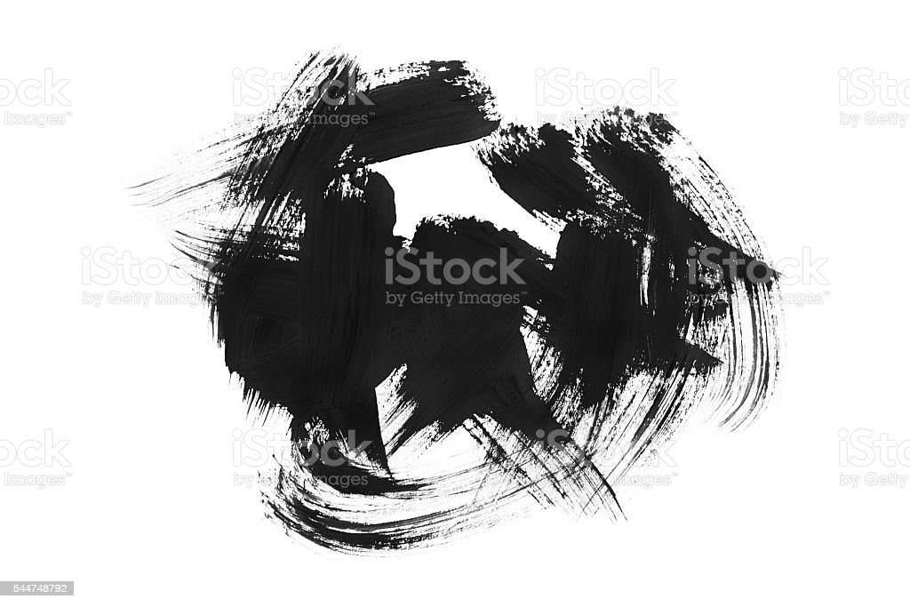 Brush strokes stock photo
