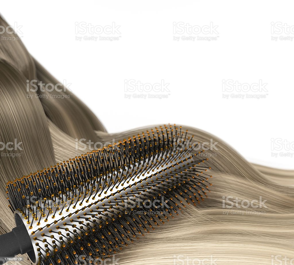 brush the hair royalty-free stock photo