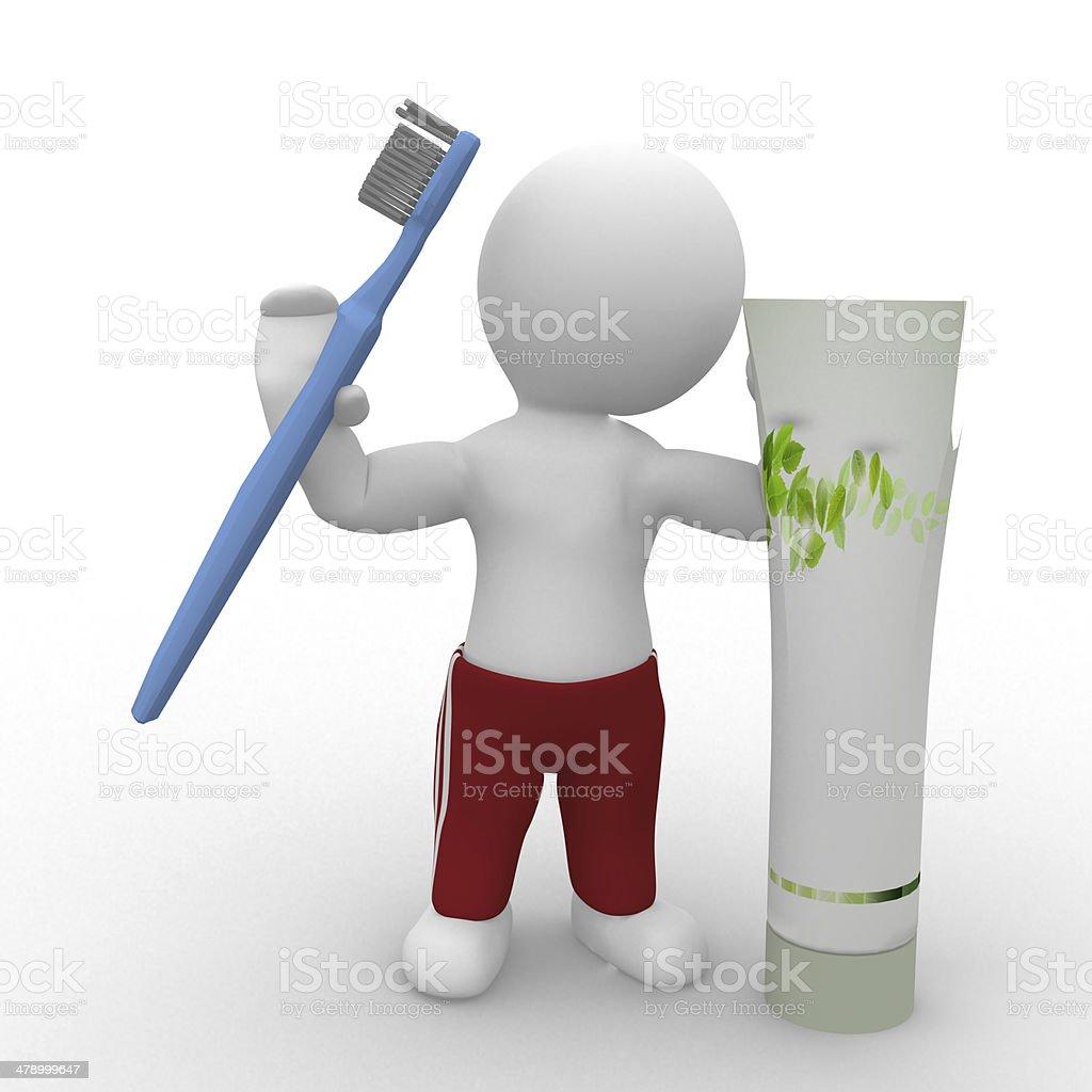 Brush your teeth stock photo