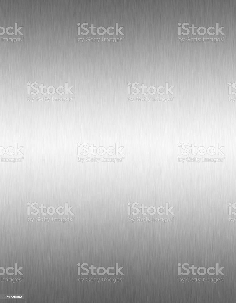 Brushed aluminium steel plate background, copy space royalty-free stock photo