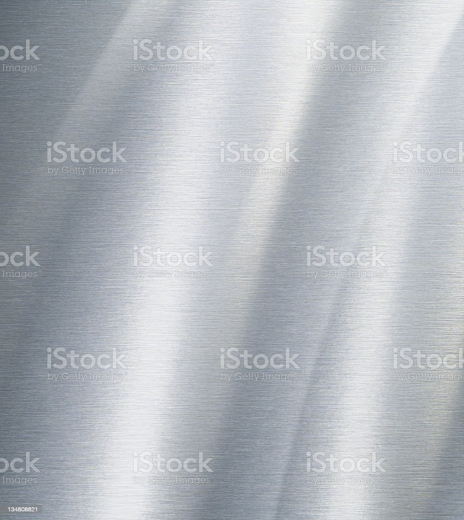 Brushed aluminium texture XL stock photo
