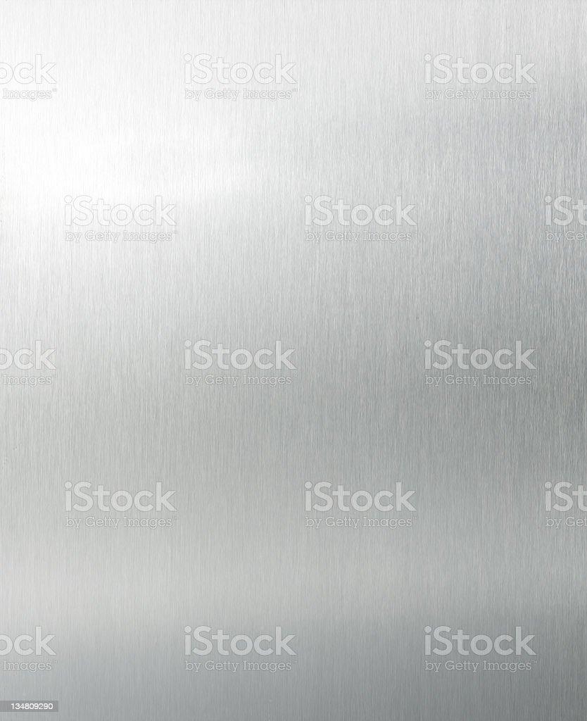 Brushed aluminium XL stock photo
