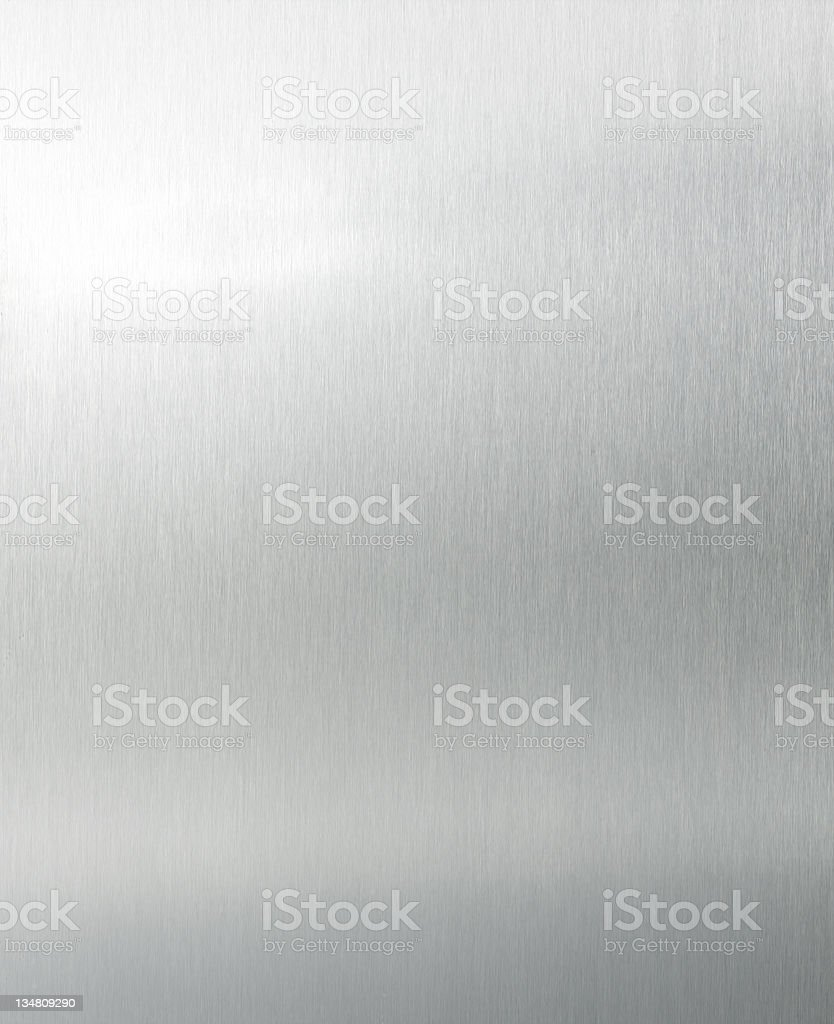 Brushed aluminium XL stock photo