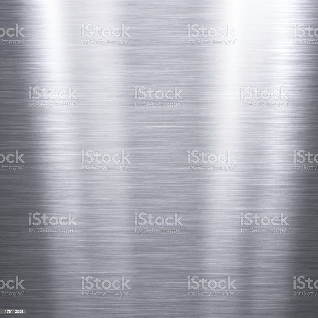 Brushed aluminum metallic plate royalty-free stock photo