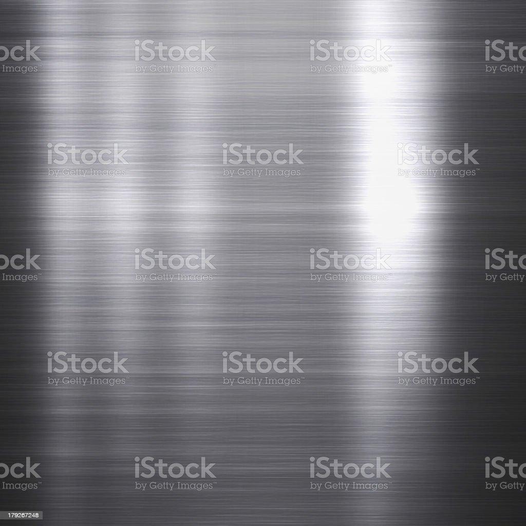 Brushed aluminum metallic plate royalty-free stock photo