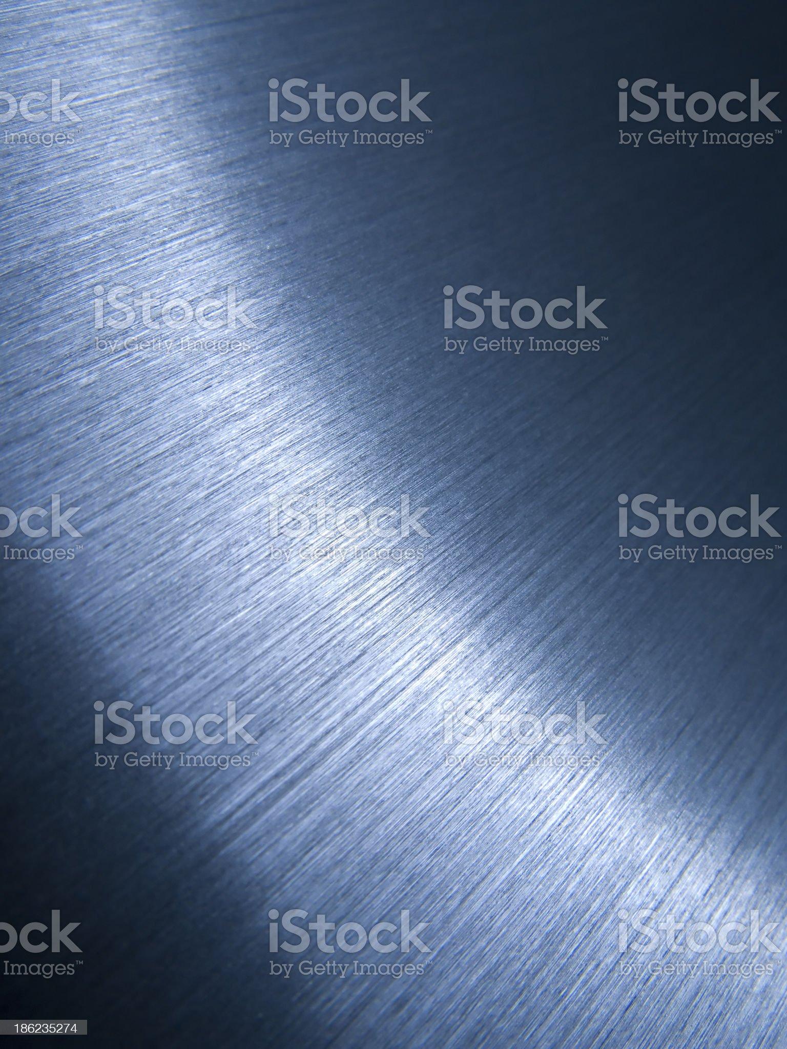 Brushed aluminum surface royalty-free stock photo
