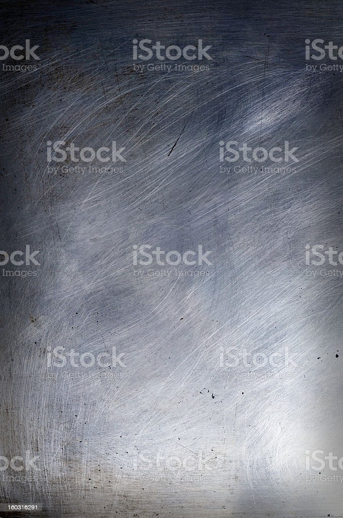 brushed & scratched steel sheet stock photo