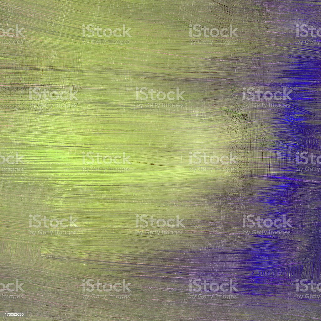 Brushed background with lime green and blue royalty-free stock photo