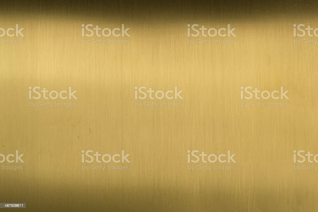Brushed Brass stock photo