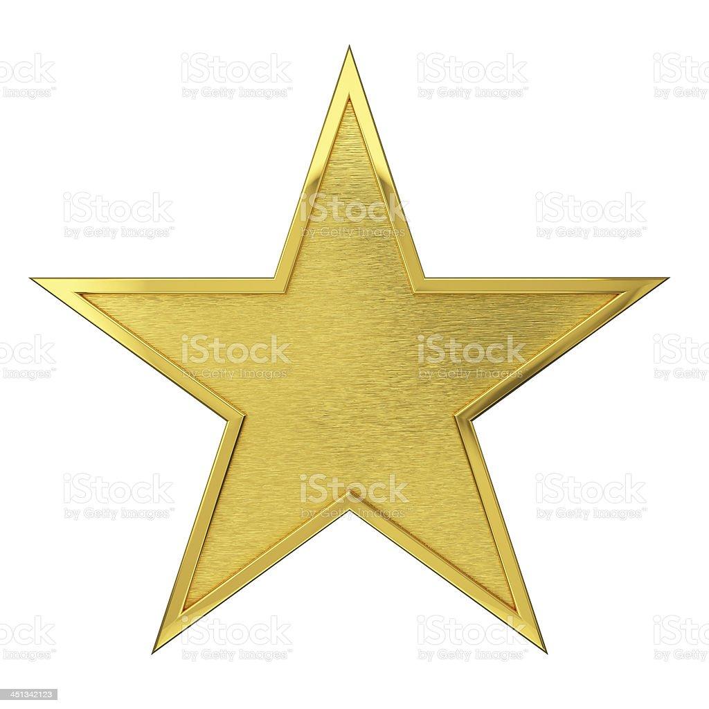 Brushed Golden Star Award stock photo