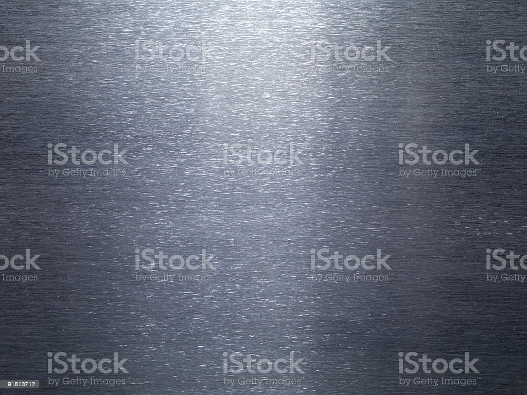 Brushed Horizontal Sheet Metal Detail with Reflective Light in Middle royalty-free stock photo
