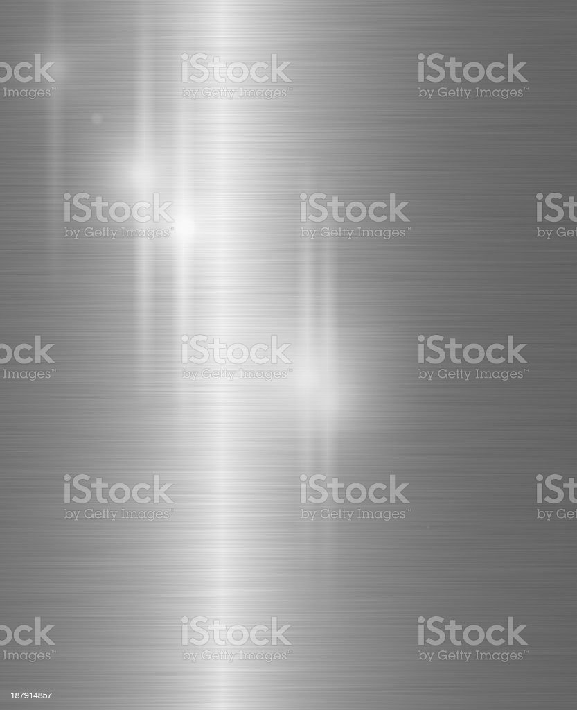 Brushed metal background with shining lights on it stock photo