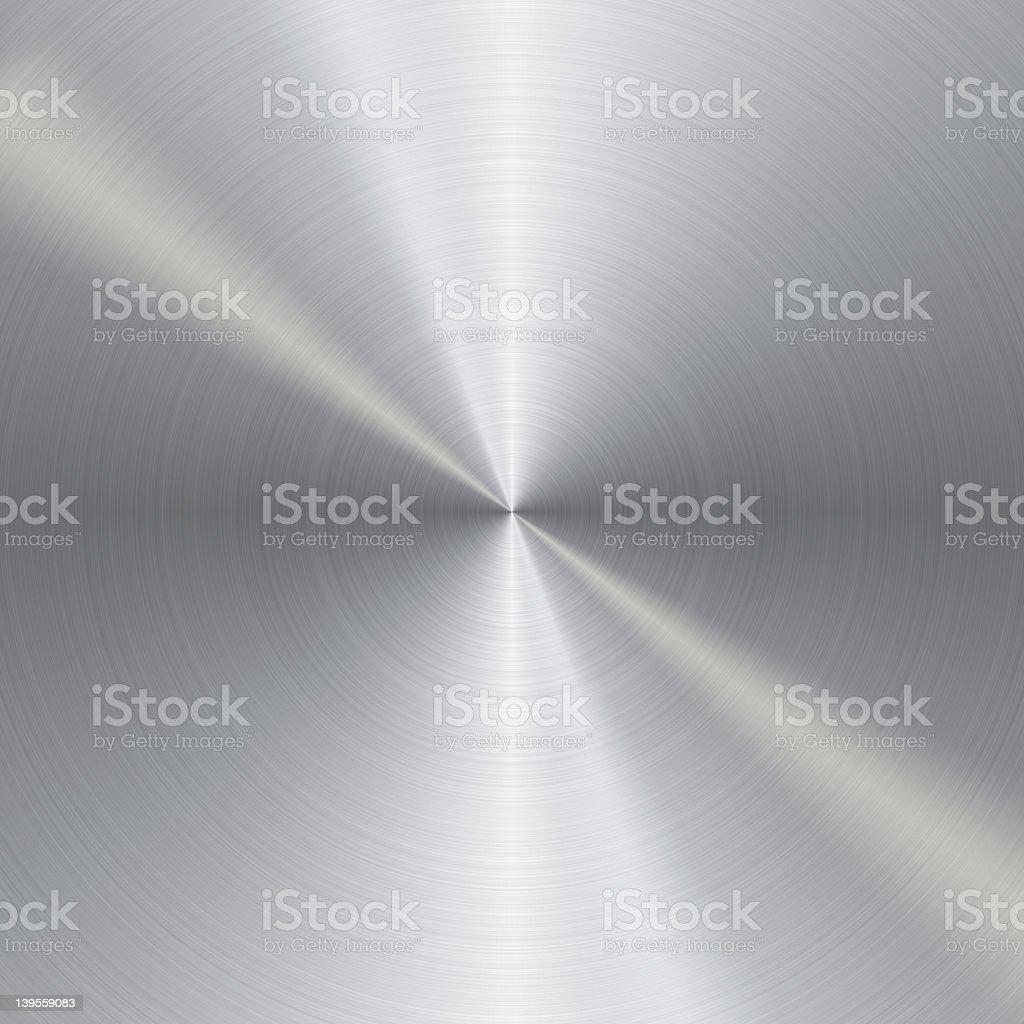 Brushed metal circle background stock photo