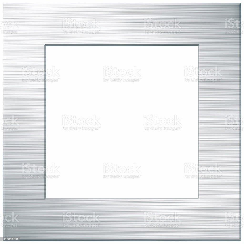 brushed metal frame stock photo