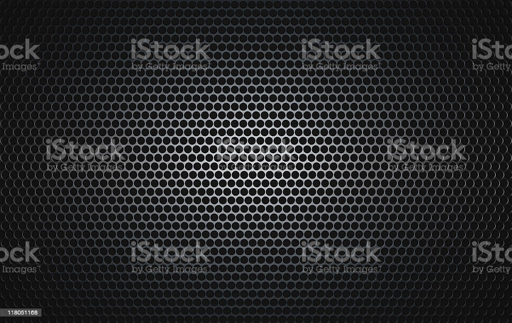 brushed metal grille as seen on speakers stock photo