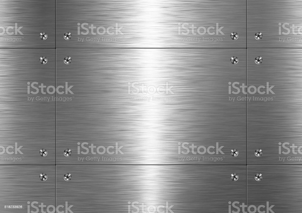 Brushed metal, pattern stock photo