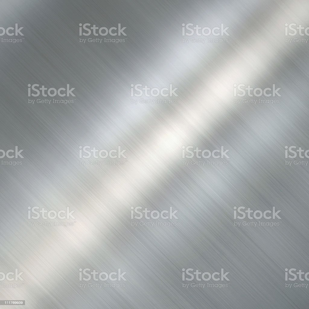 Brushed metal plate royalty-free stock photo