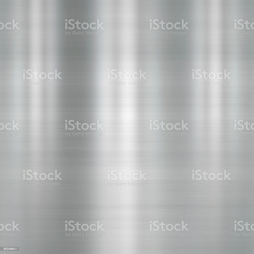 Brushed metal plate stock photo