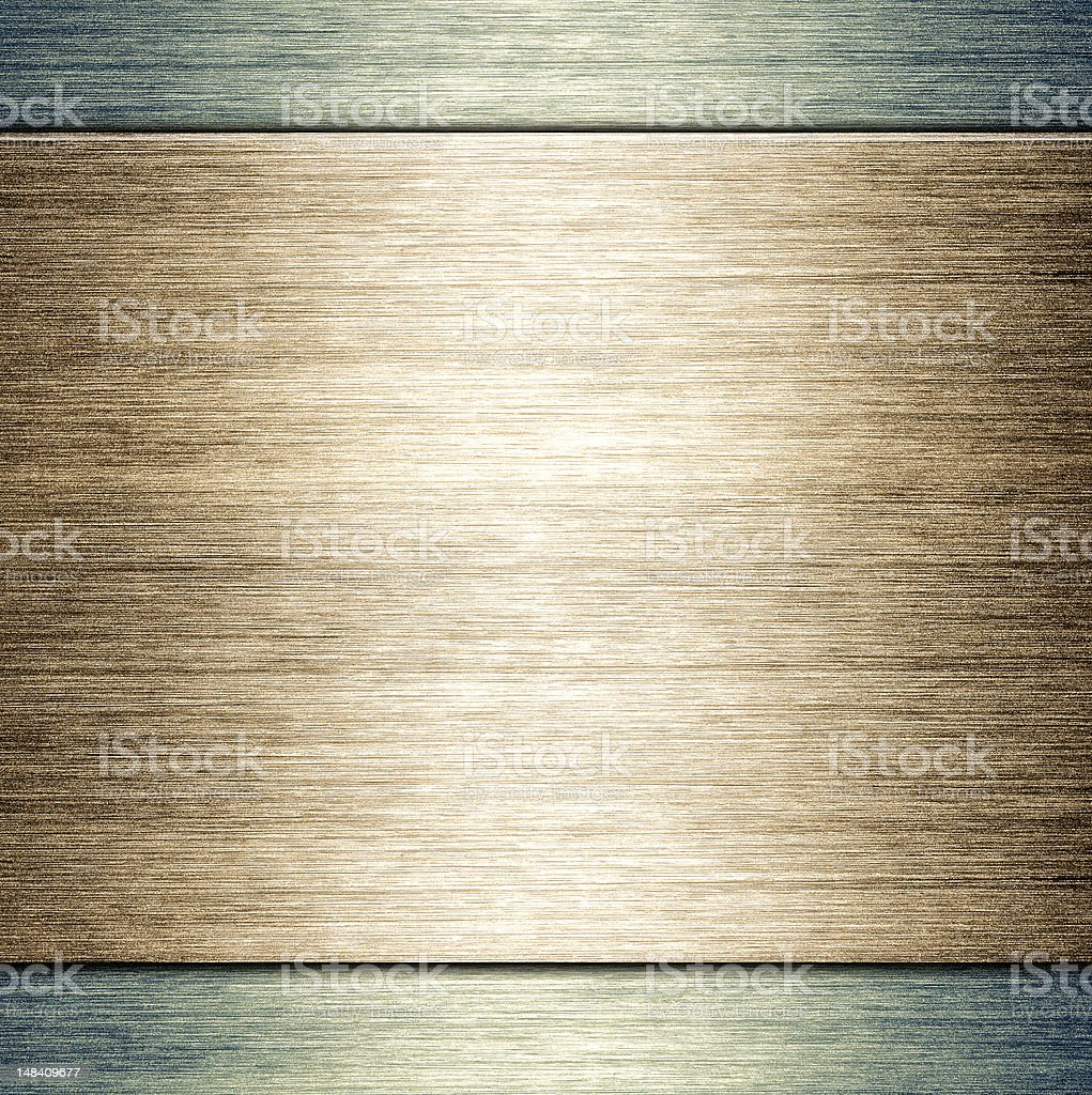 Brushed metal plate template background stock photo