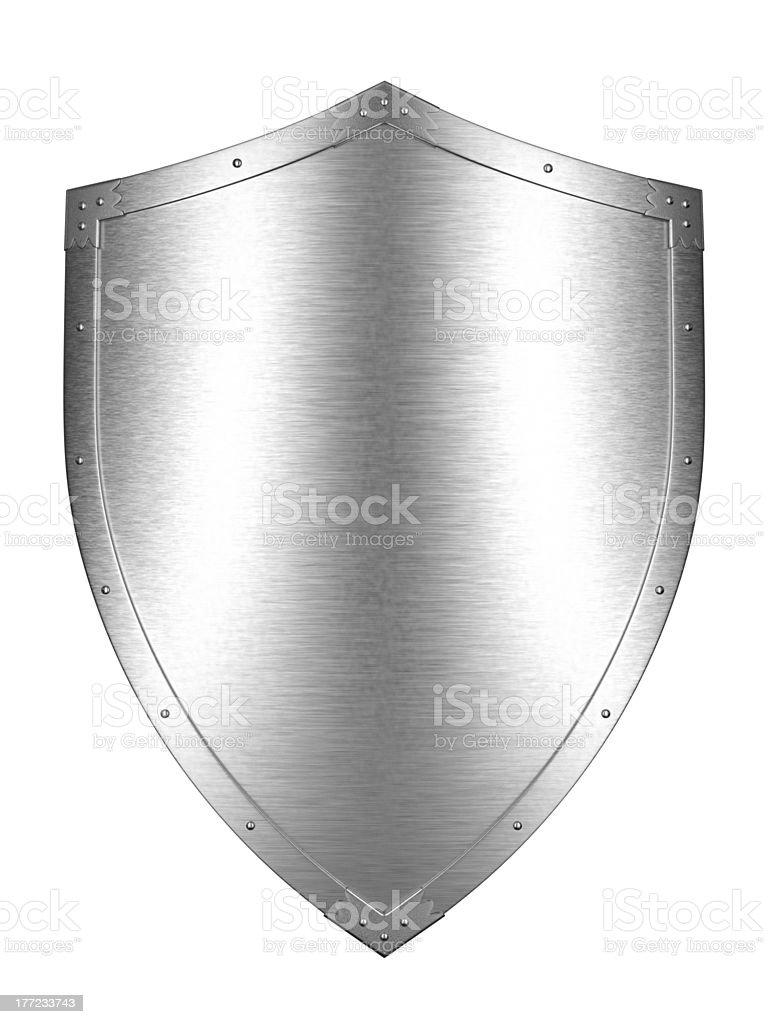 Brushed Metal shield royalty-free stock photo