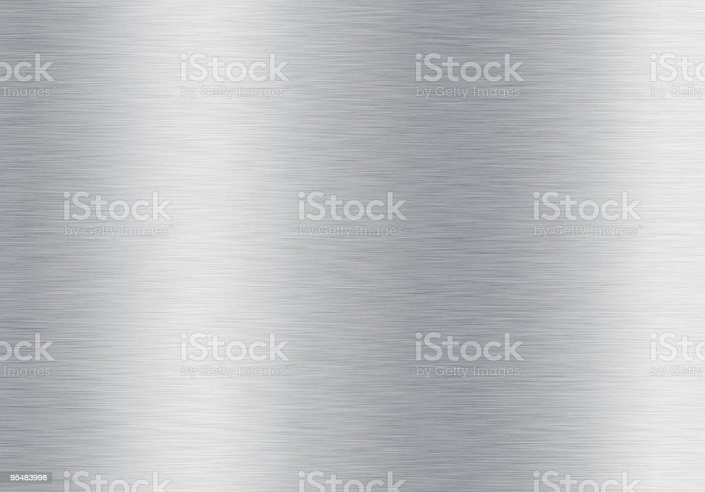 brushed silver metallic background stock photo