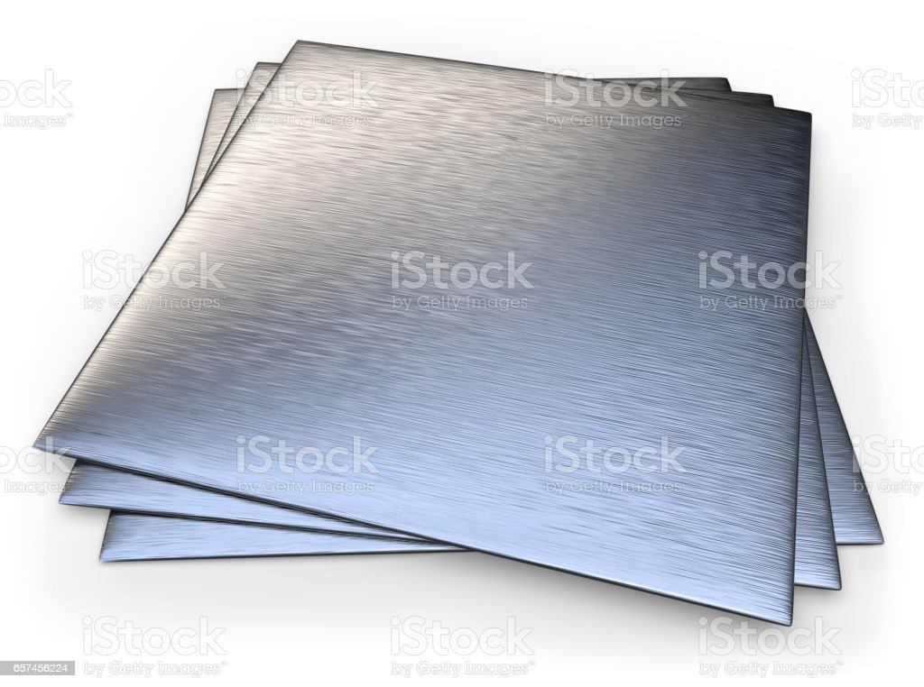 Brushed stainless steel stock photo
