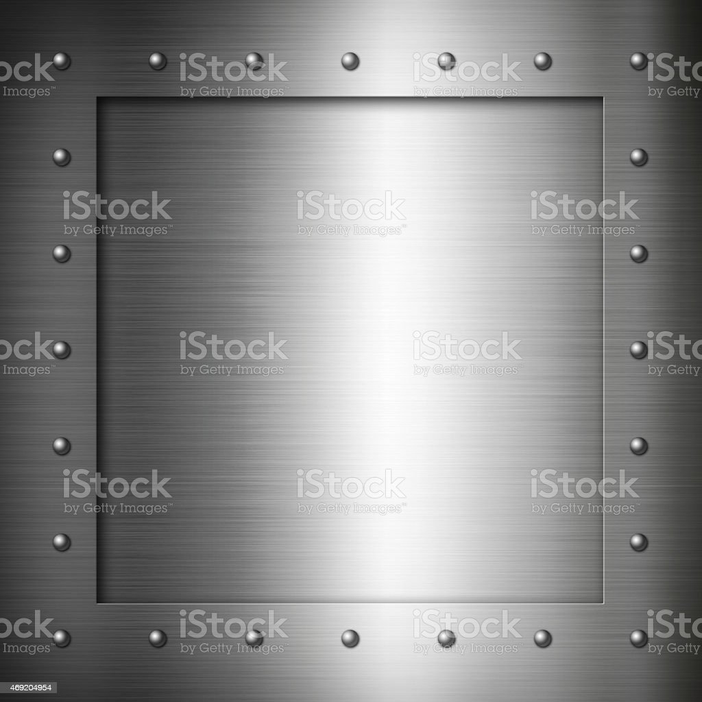Brushed Steel frame stock photo