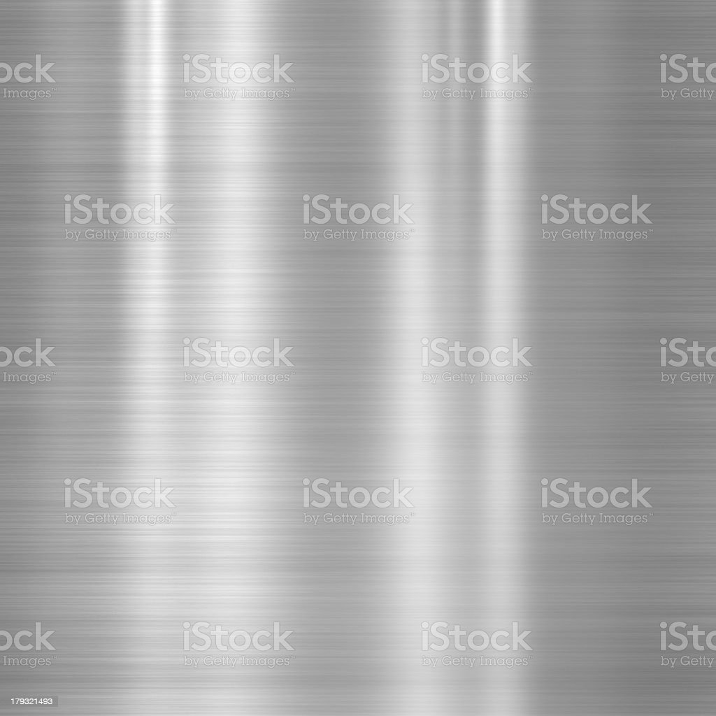 Brushed steel metallic plate royalty-free stock photo