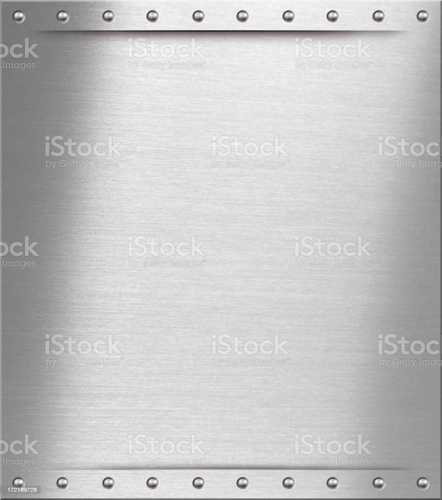 brushed steel plate I stock photo