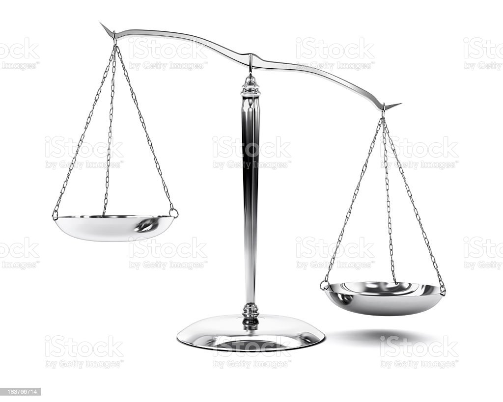Brushed Steel Scale on White Background (XXXL-39MPx) royalty-free stock photo